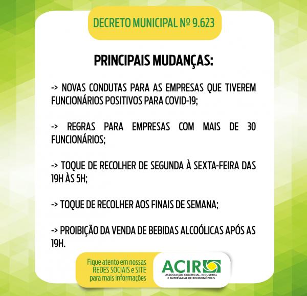 CONHEÇA AS REGRAS E HORÁRIOS DE FUNCIONAMENTO DAS ATIVIDADES AUTORIZADAS A FUNCIONAR NOS MOLDES DO DECRETO 9.623