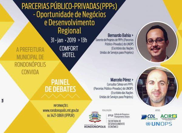Profissionais da ONU estarão em Rondonópolis em evento sobre PPPs