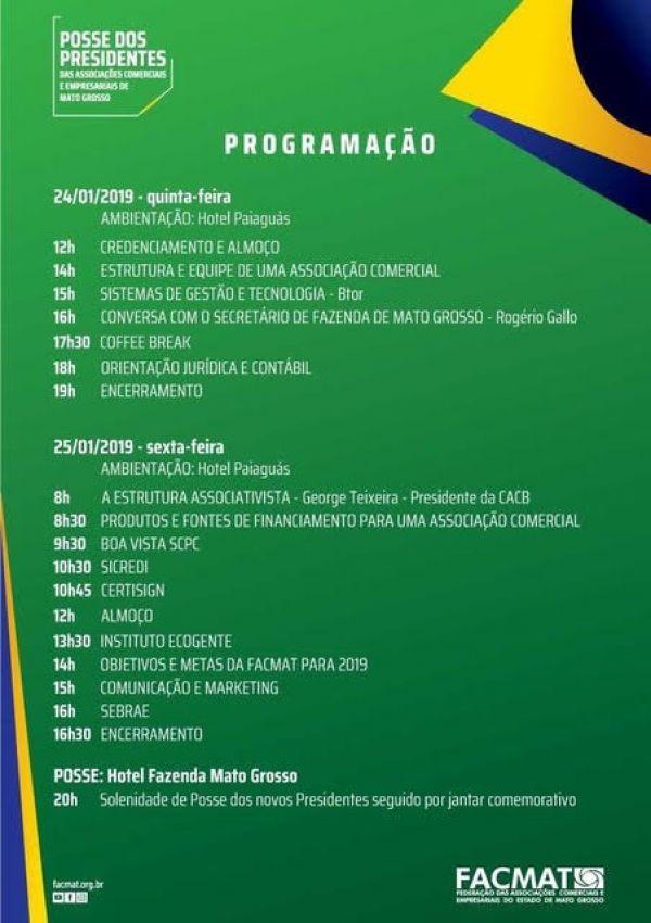 Ernando Machado toma posse junto a outros 54 presidentes das Associações Comerciais nesta sexta