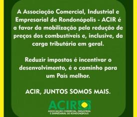 ACIR é a favor da mobilização dos caminhoneiros