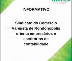 Ainda sem acordo em convenção coletiva, Sindicato do Comércio Varejista de Rondonópolis orienta empresários